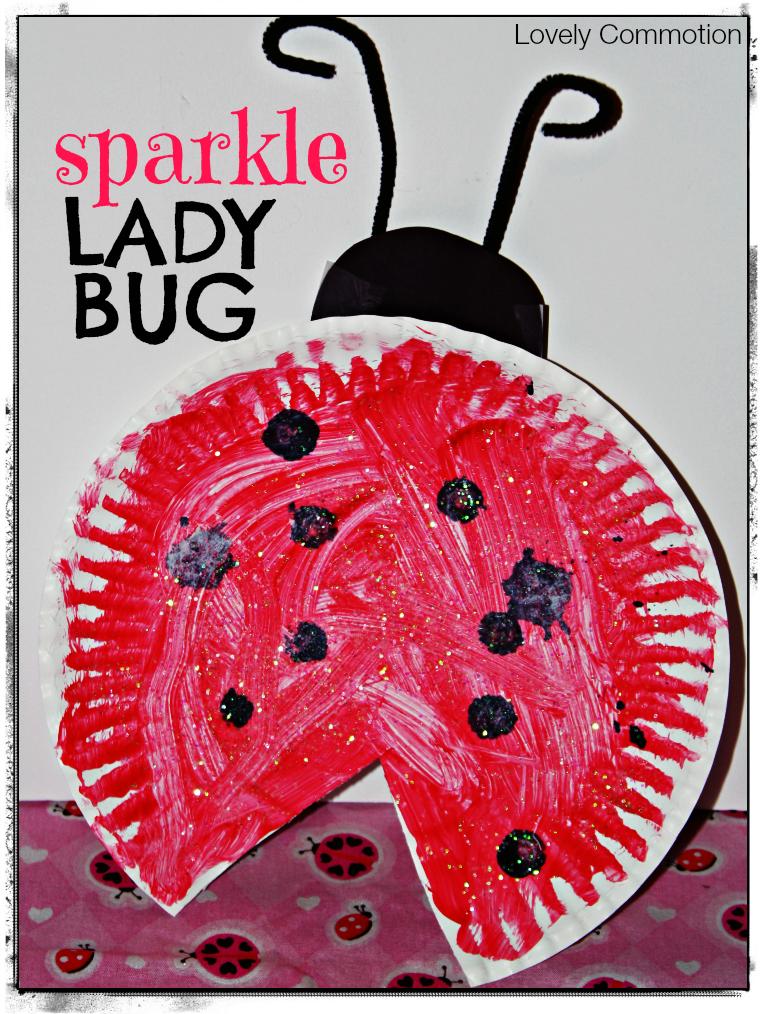 sparkle ladybug craft with Eric Carle's Grouchy Ladybug