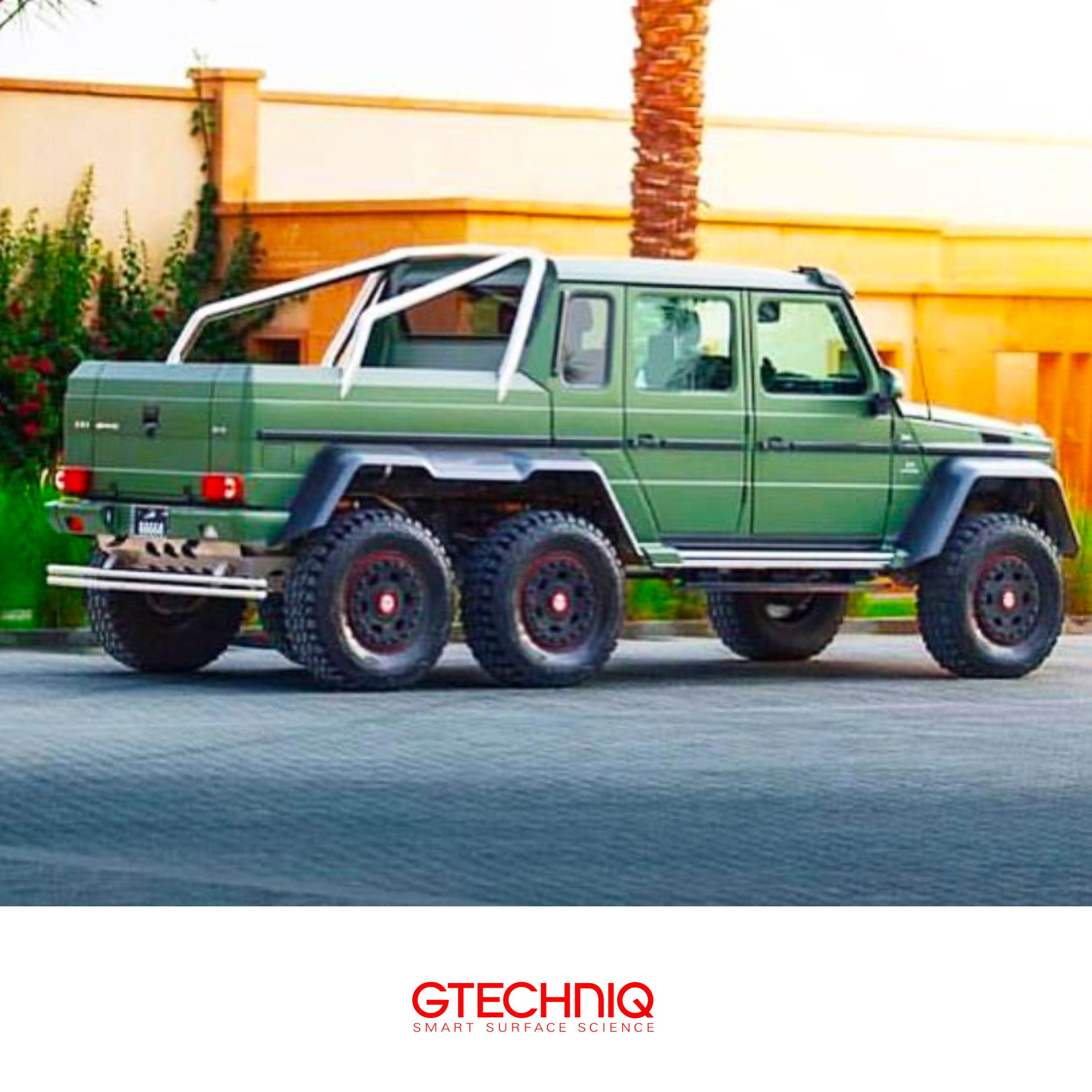 Mercedes Benz G63 Amg 6x6 Wrapped In Military Green Protected By