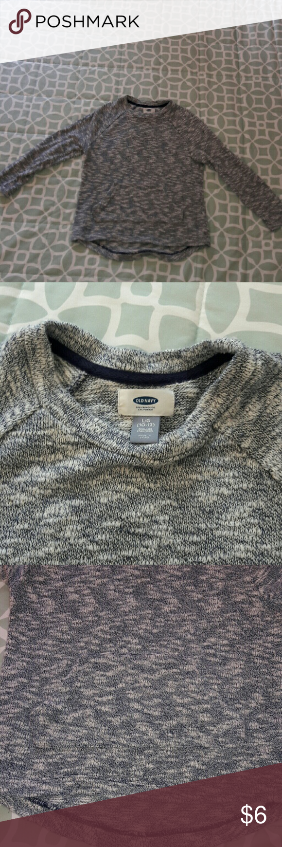 Girl's Old Navy sweater | Navy sweaters, Kangaroos and High low