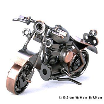 Pop Time Bronze Retro Classic Handmade Iron Motorcycle Handcrafted Iron Metal Motorcycle Collectible Art Sculpture Mot Sculpture Art Motorcycle Art Selling Art