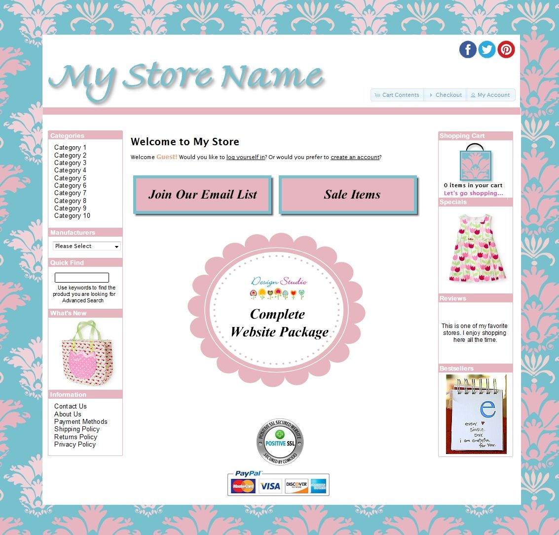 Boutique Website Templates: Nani Template | Cute Website Templates ...