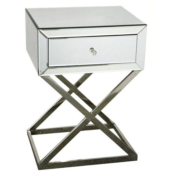 Mirrored Bedside Table Cross Leg £180 Furniture
