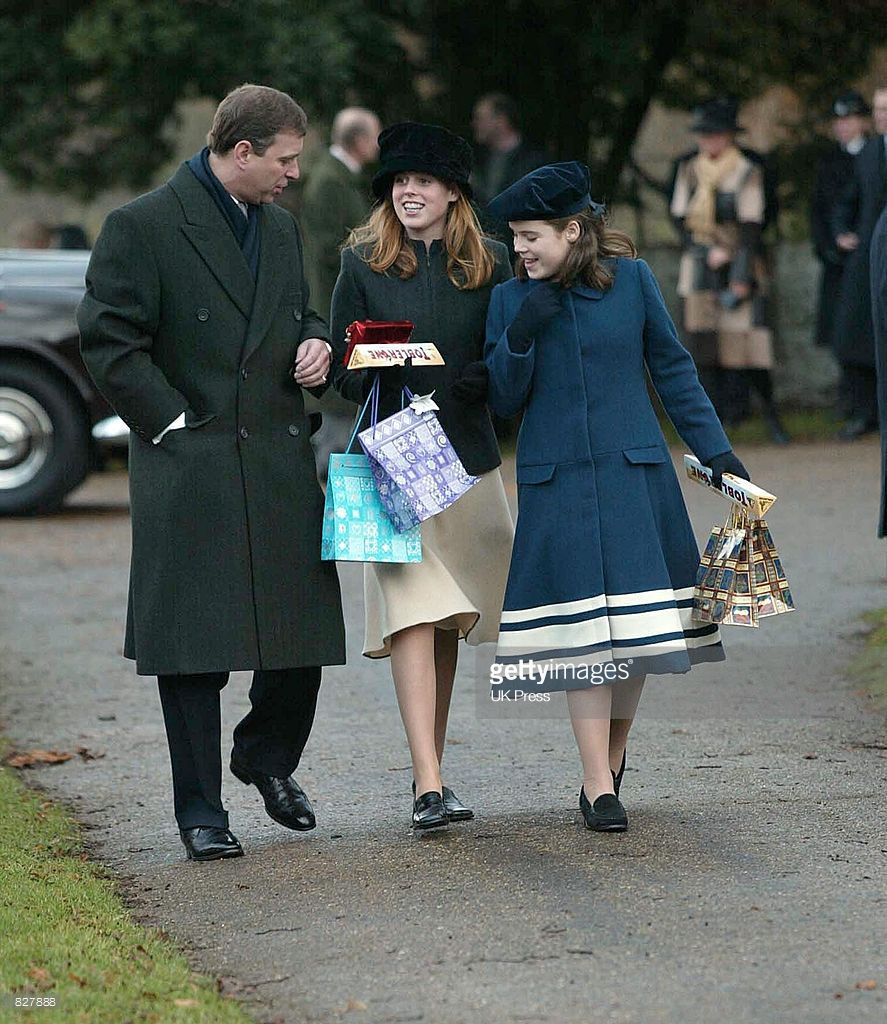 News Photo : Prince Andrew And Princess Beatrice & Eugenie