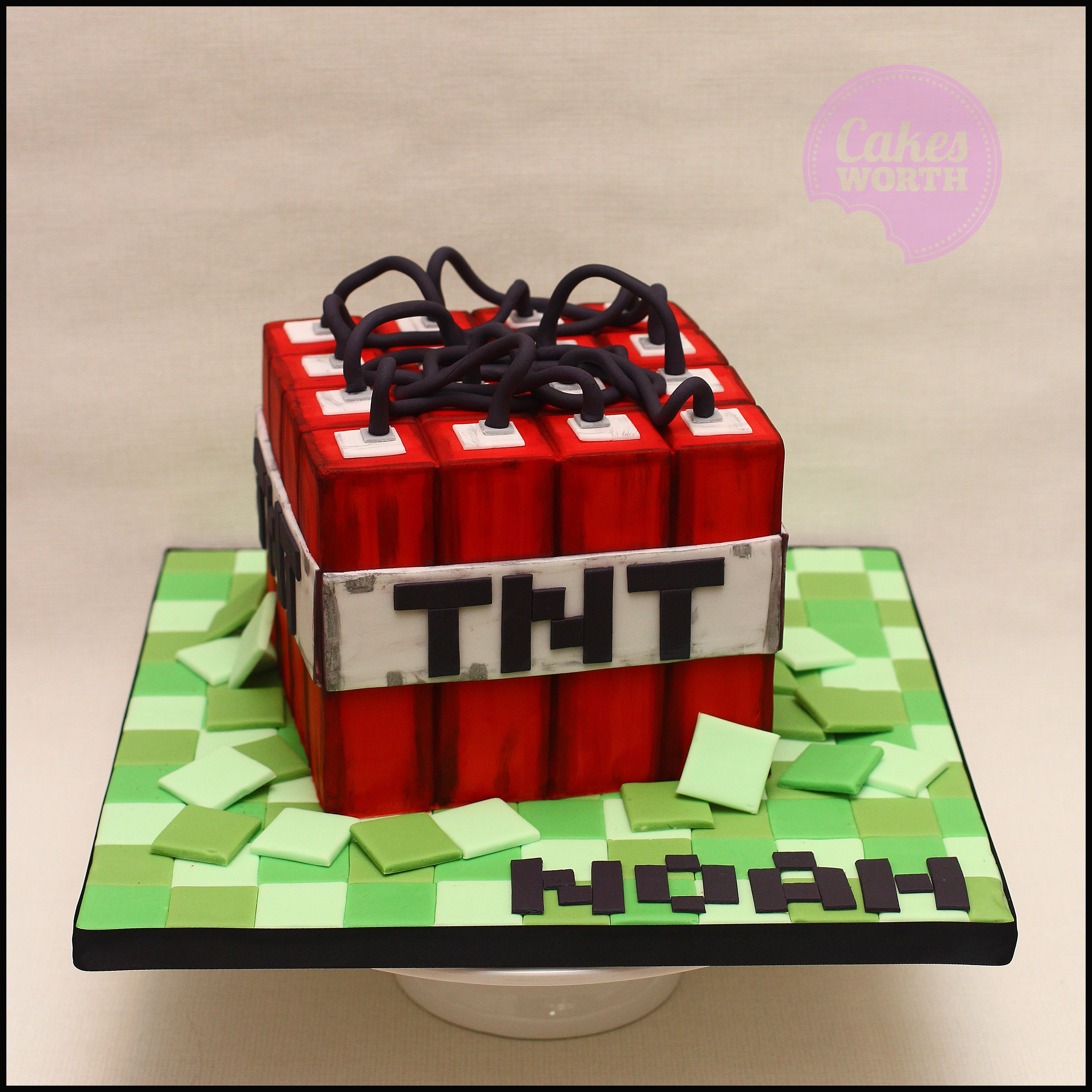 Minecraft Tnt Birthday Cake That I Made For My Little Boy Inspired