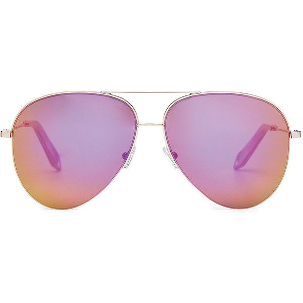 8ab52c1468a7 Victoria Beckham Classic Victoria Rose Aviator Sunglasses (507 AUD) ❤ liked  on Polyvore featuring accessories