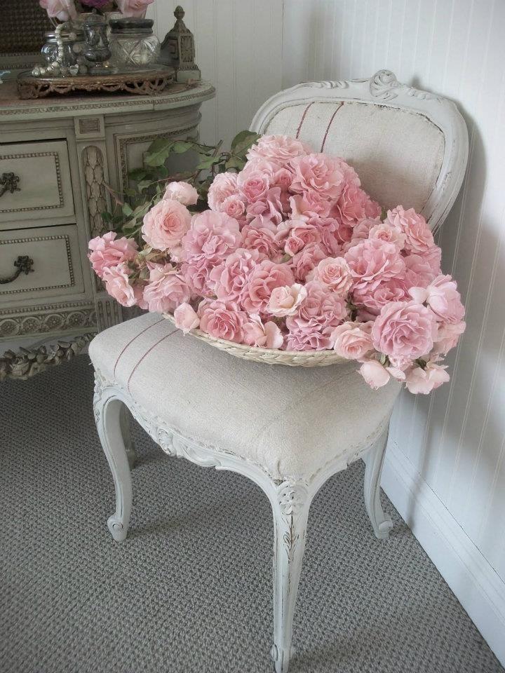 Luis XV con flores