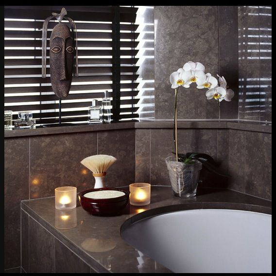 Spa Bathroom Accessories Orchids And Candles