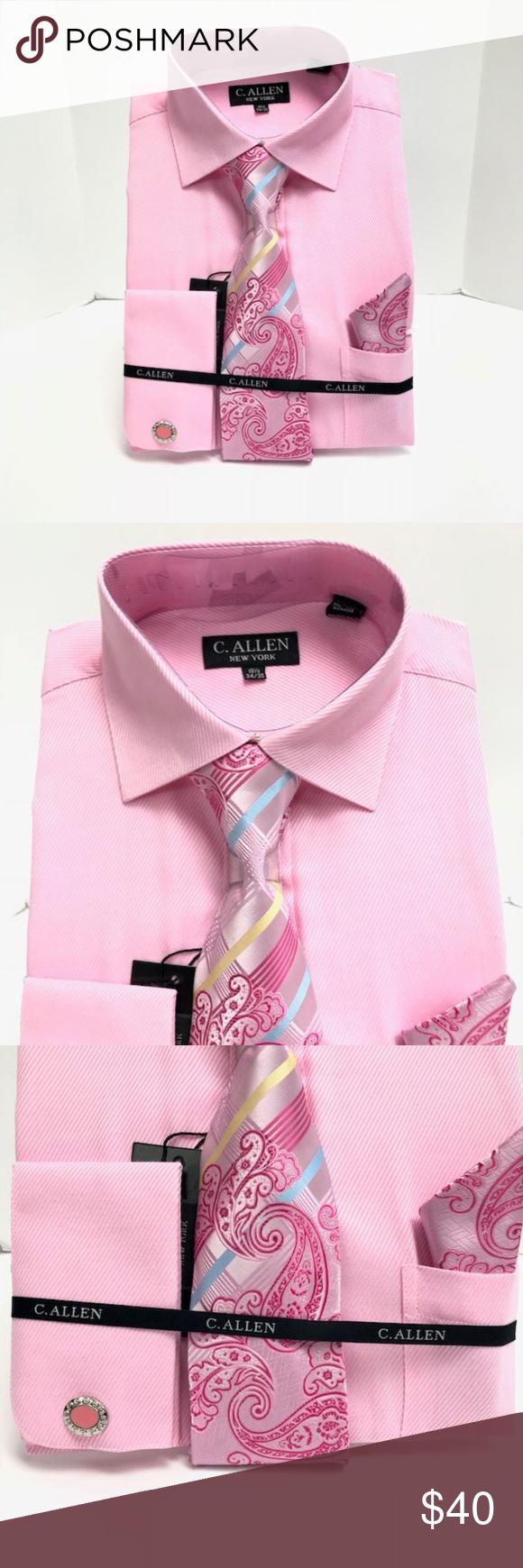 Yellow dress shirt men  C Allen Combo Pack Pink Dress Shirt Menus New Boutique  Pinterest