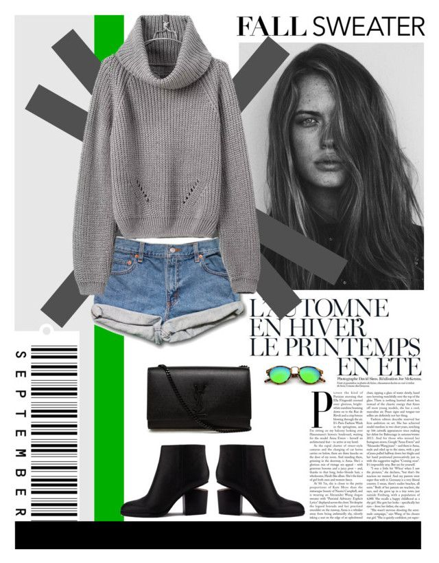 """""""fall sweater and shorts"""" by julietacelina on Polyvore featuring GE, Été Swim, Alexander Wang and Yves Saint Laurent"""