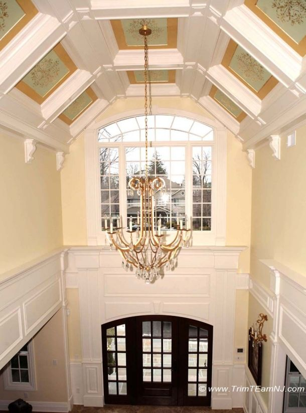 089 cathedral style coffered ceiling with stencils inserts for Cathedral style ceiling