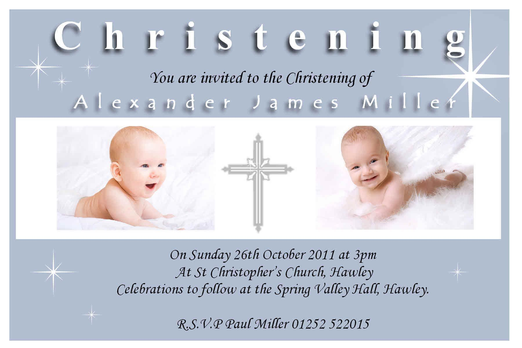 Baptism Invitation Template For Baby Boy Baptism Invitations