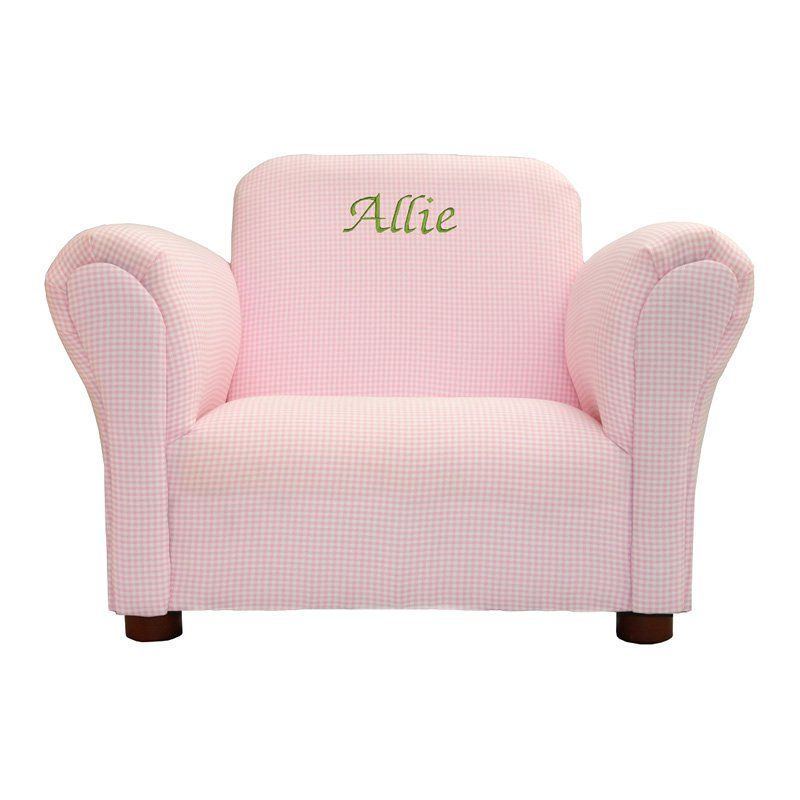 Amazing Fantasy Furniture Personalized Kids Mini Chair Pink Gingham   $97.62 @