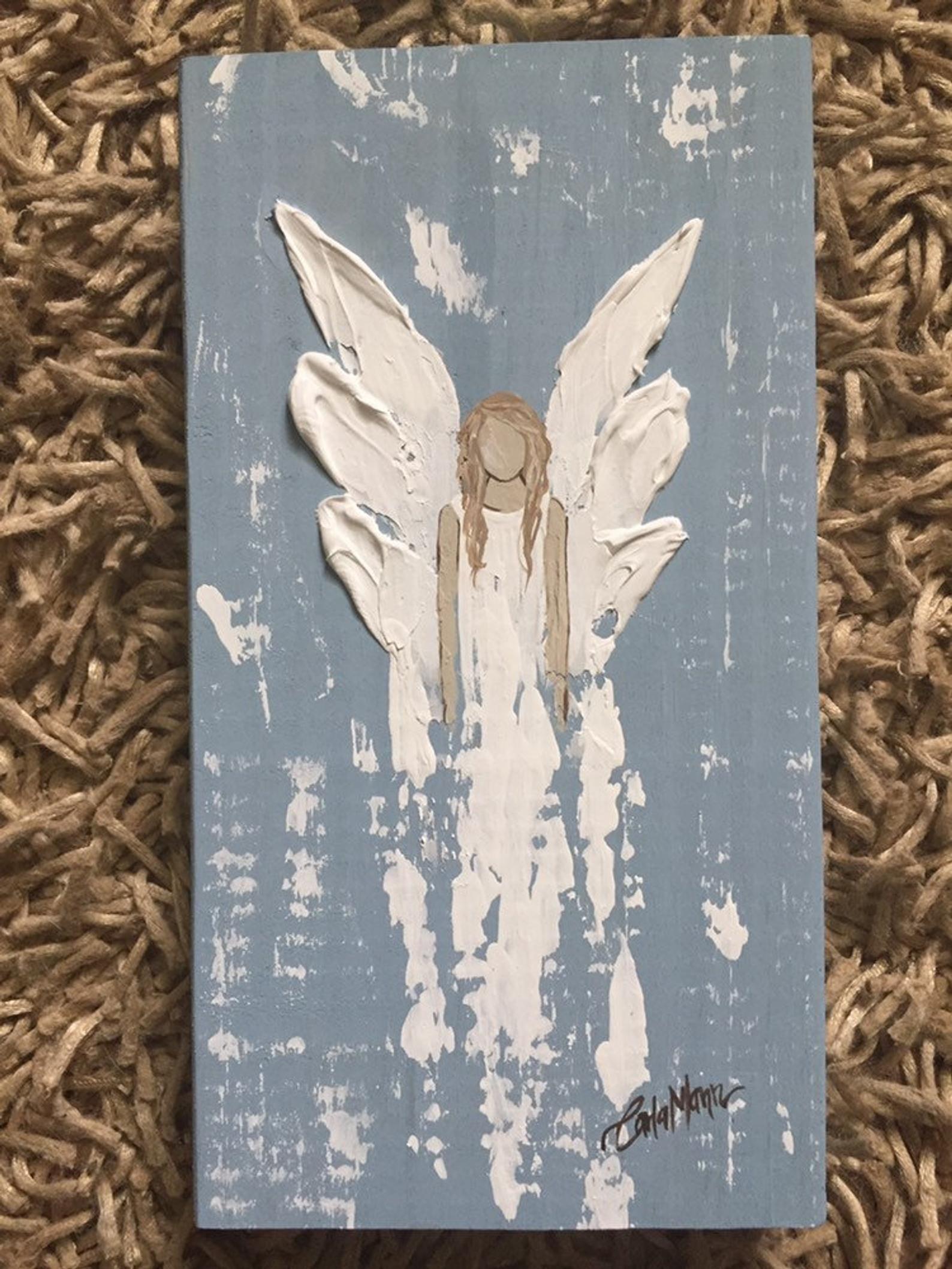 Angel Painting Angel Painting Christmas Art Angel Wings Art