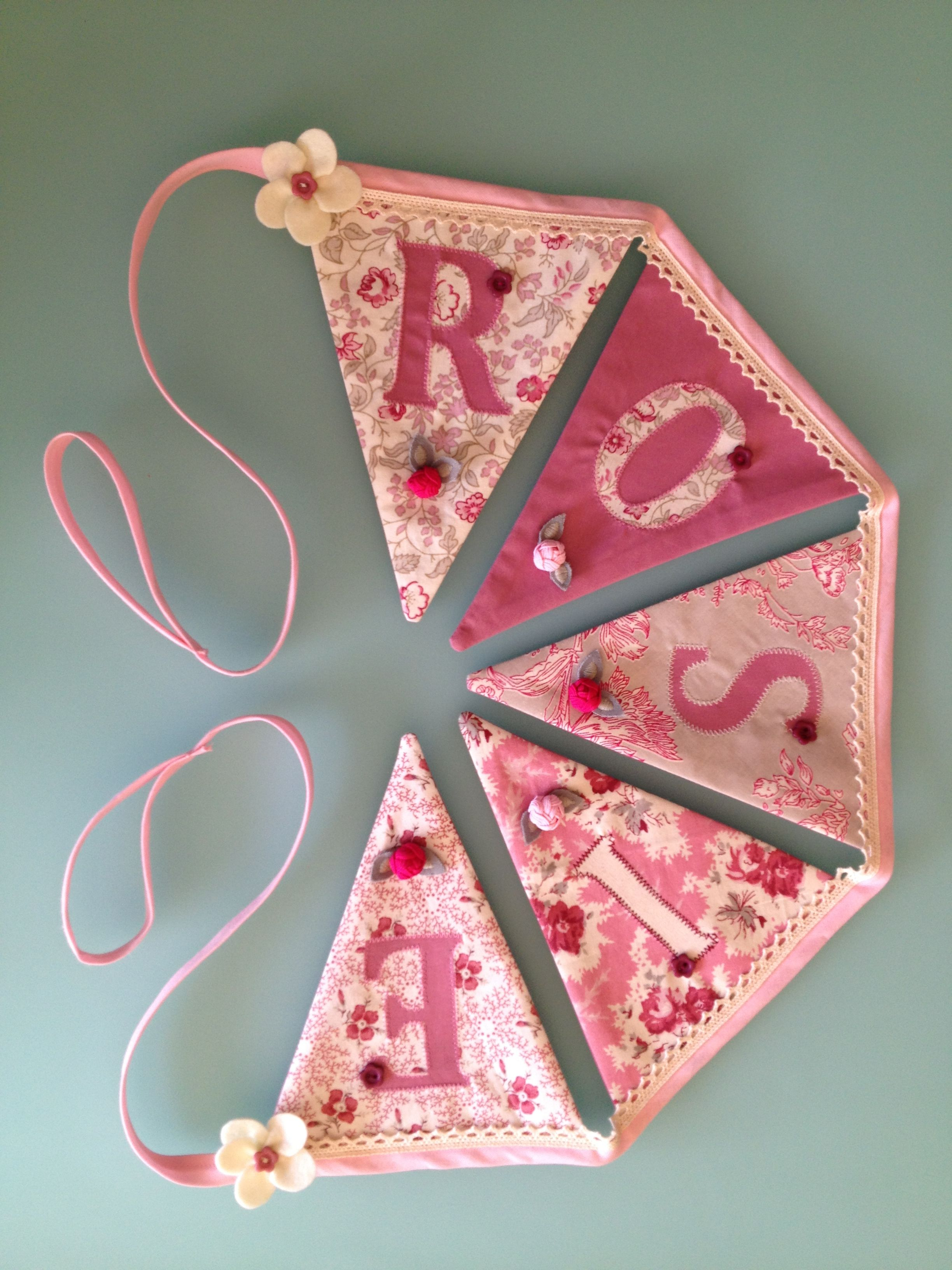 Personalised bunting for little Rosie\'s bedroom. | dream room ...