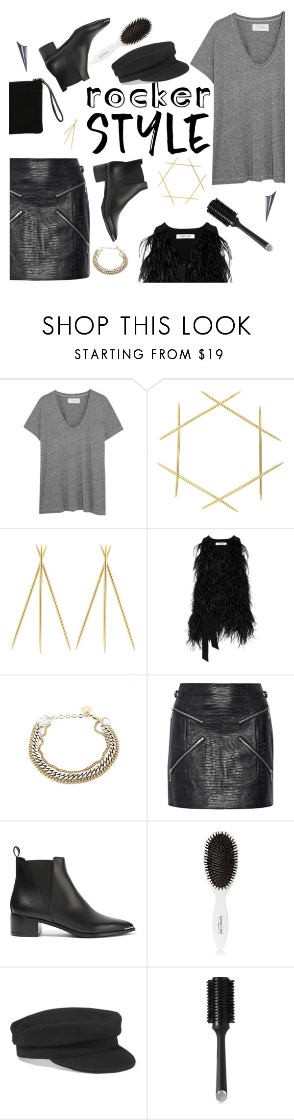"""""""Rocker Chic"""" by thepommier ❤ liked on Polyvore featuring The Great, Elizabeth and James, Alexander Wang, Acne Studios, Leonor Greyl, Étoile Isabel Marant, GHD, rockerchic and rockerstyle"""
