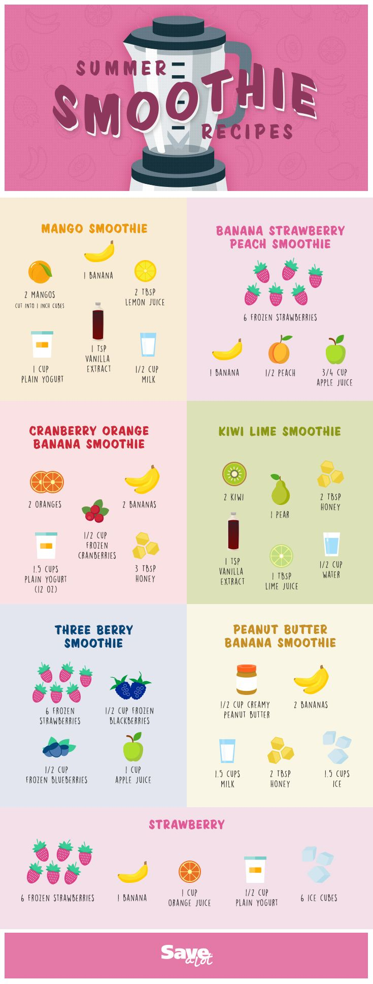 Smoothie Ideas   EASY   Summer Smoothie   Healthy Smoothies   Smoothie Packs   MakeAHead Smoothies   savealot savealotinsiders is part of Smoothie recipes -