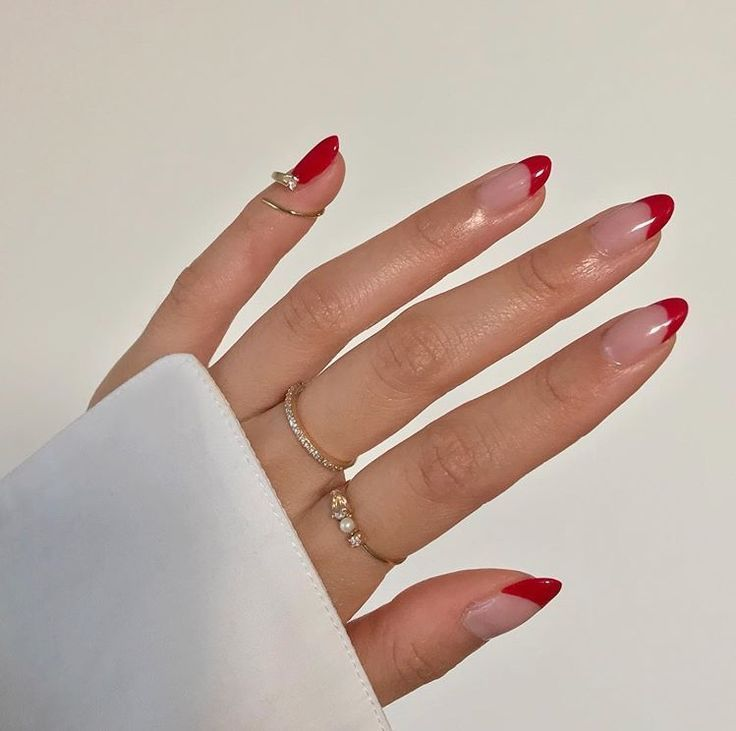 Photo of red french nails | via Instagram fongminliao Nails | Art | Girl | polsk | Sweet ….