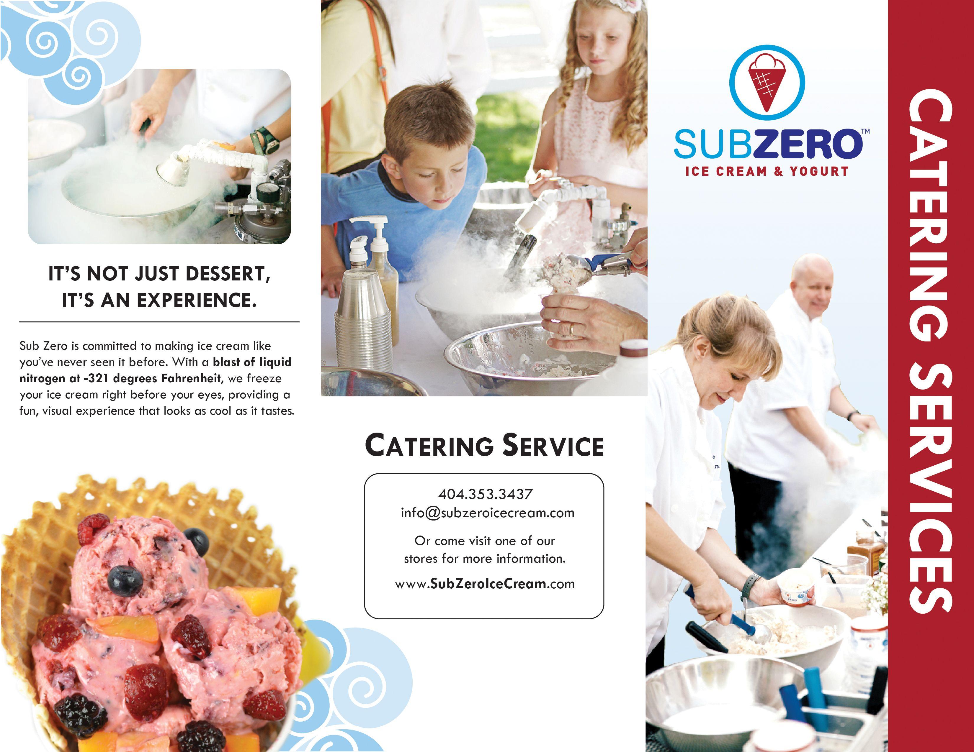Sub Zero Ice Cream Brochure
