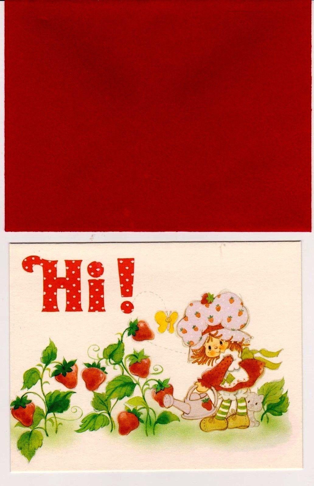 Httpebayitmvtg tcfc strawberry shortcake unused 4 x7 httpebayitmvtg tcfc old cartoonsvintage strawberry shortcakeamerican greetingsgreeting cardsenvelopeplace settings kristyandbryce Choice Image