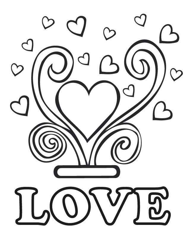 Wedding coloring pages: Wedding love   Wedding coloring ...