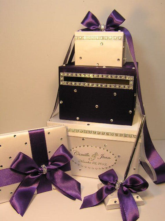 Choice of color Bling Card Box /& Guest Book Set Wedding Quinceanera Rhinestone