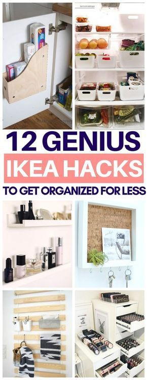 So glad I read this list of organization Ikea hacks before going there today Ch