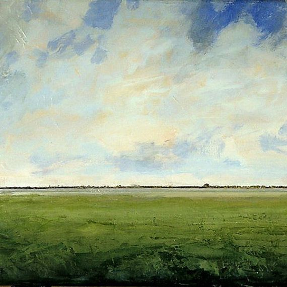 Landscape Oil Painting Custom Modern Abstract Sky Cloud Field Art By J Shears Oil Painting Landscape Abstract Landscape Painting Landscape Art