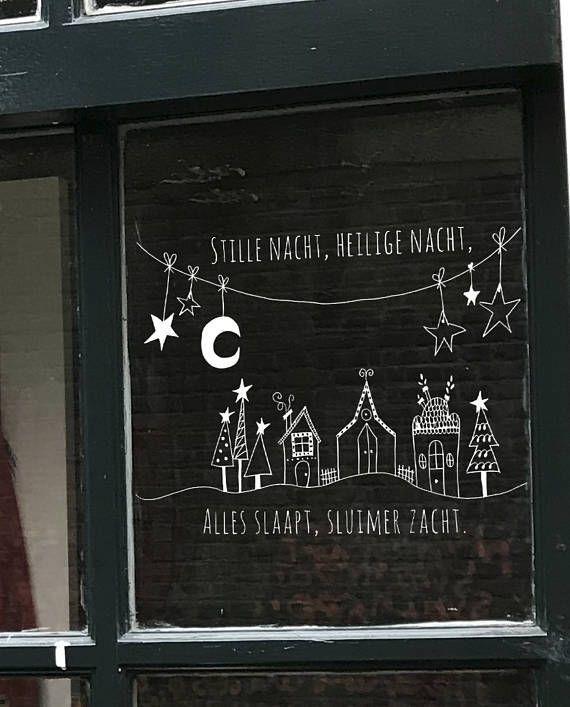Stille Nacht Weihnachtslied Am Fenster Weihnachtsfensterzeichnung Weihnachtskreidemarkerze In 2020 Weihnacht Fenster Fensterbilder Weihnachten Weihnachtsfenster