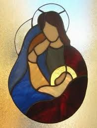 Image result for stained glass nativity ornaments