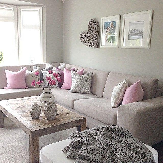 ↠Pinterest inspiration  marquev↞ Home Ideas Pinterest Pink - wohnzimmer grau rosa