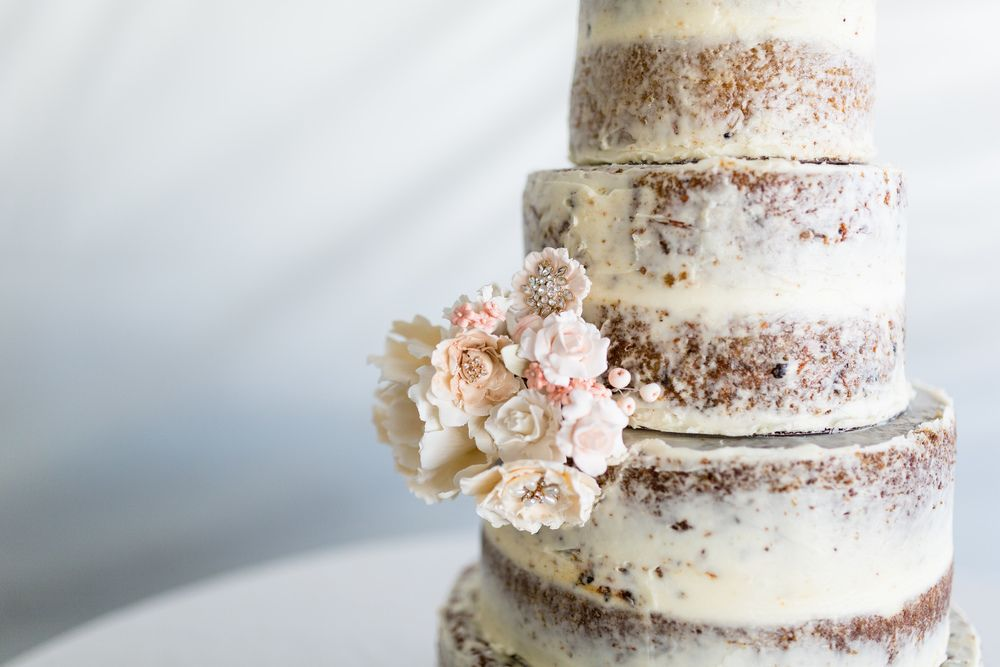 Wedding Cake Naked Cake Flowers Rio Oso Country Sacramento Wedding cake