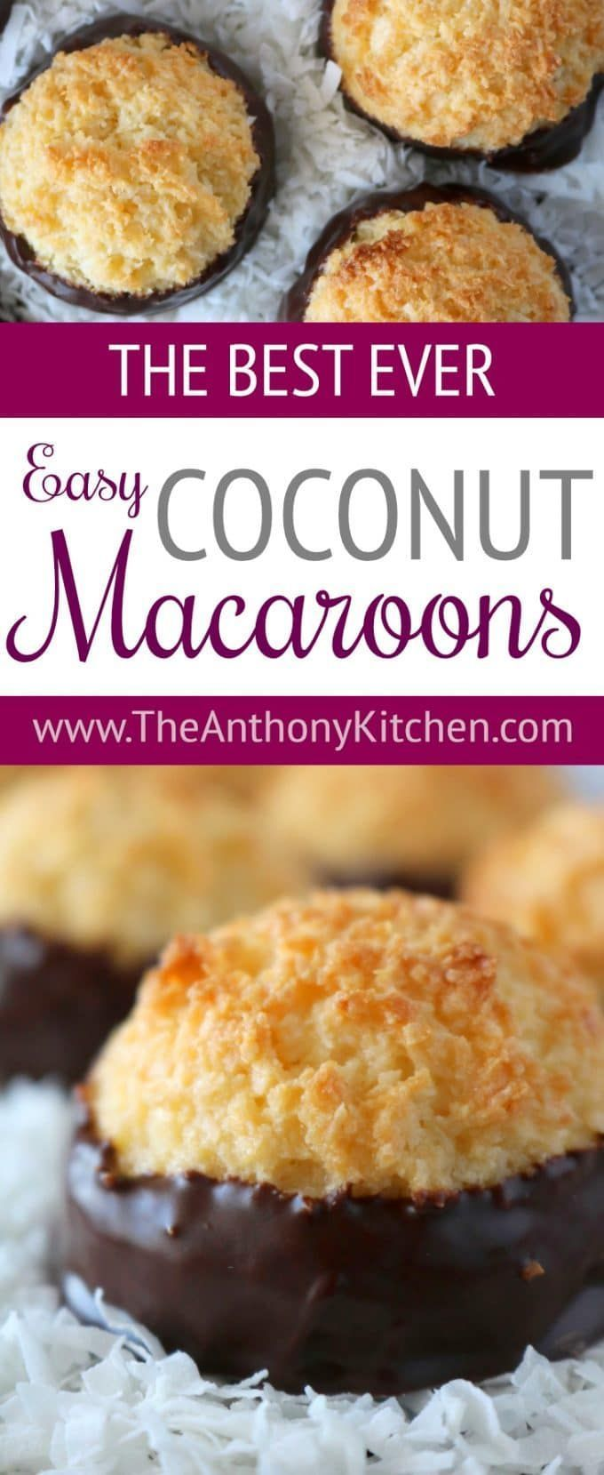 Easy Coconut Macaroons Made With Condensed Milk A Simple Recipe For Easy Coconut Macaroons M Macaroon Recipes Coconut Macaroons Easy Coconut Macaroons Recipe