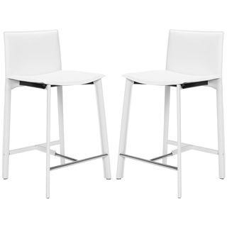 Safavieh Mid Century 246 Inch Madison Ave White Counter Stool Set