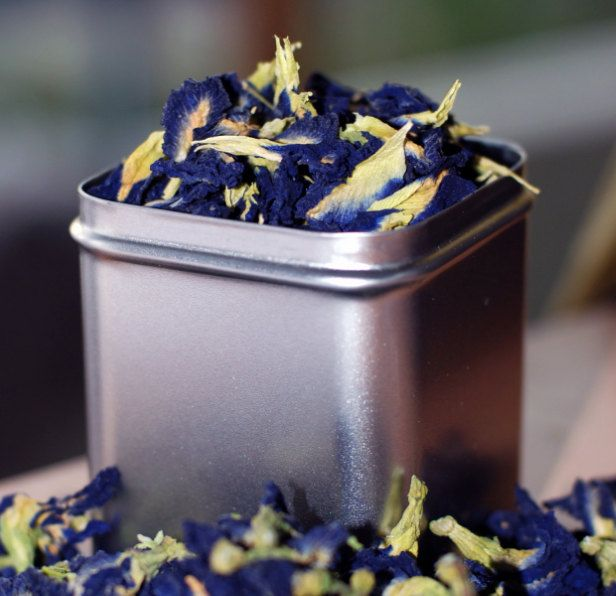 Organic Blue Tea Dried Herb Butterfly Pea Flowers Blue Color ...