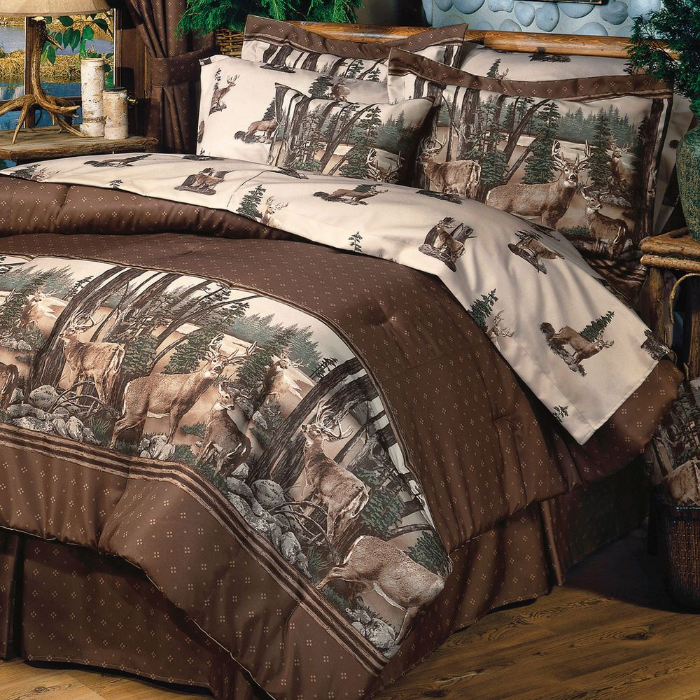 Details About Whitetail Deer Bedding Comforter Set 4 Sizes With