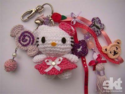 Crochet Amigurumi Keychain Free Pattern : Tiny kitty free pattern amigurumi crochet patterns k and j