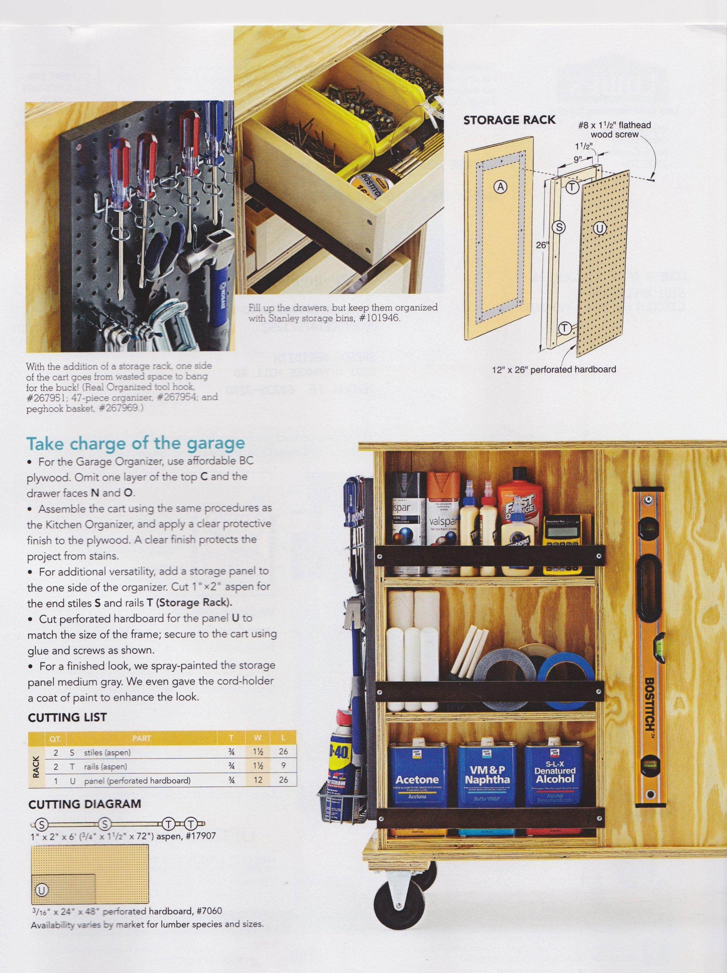 Garage Organizer - page 2 Garage, ideas, man cave, workshop ...