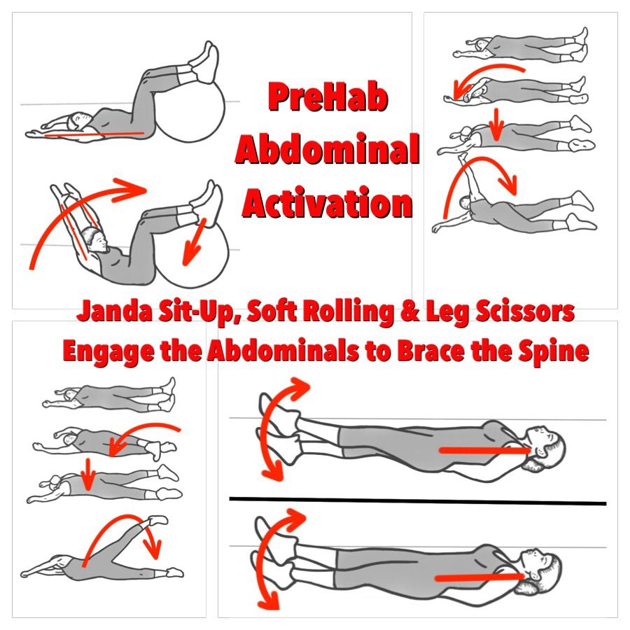 Engage the Abdominals and brace the Spine to develop more