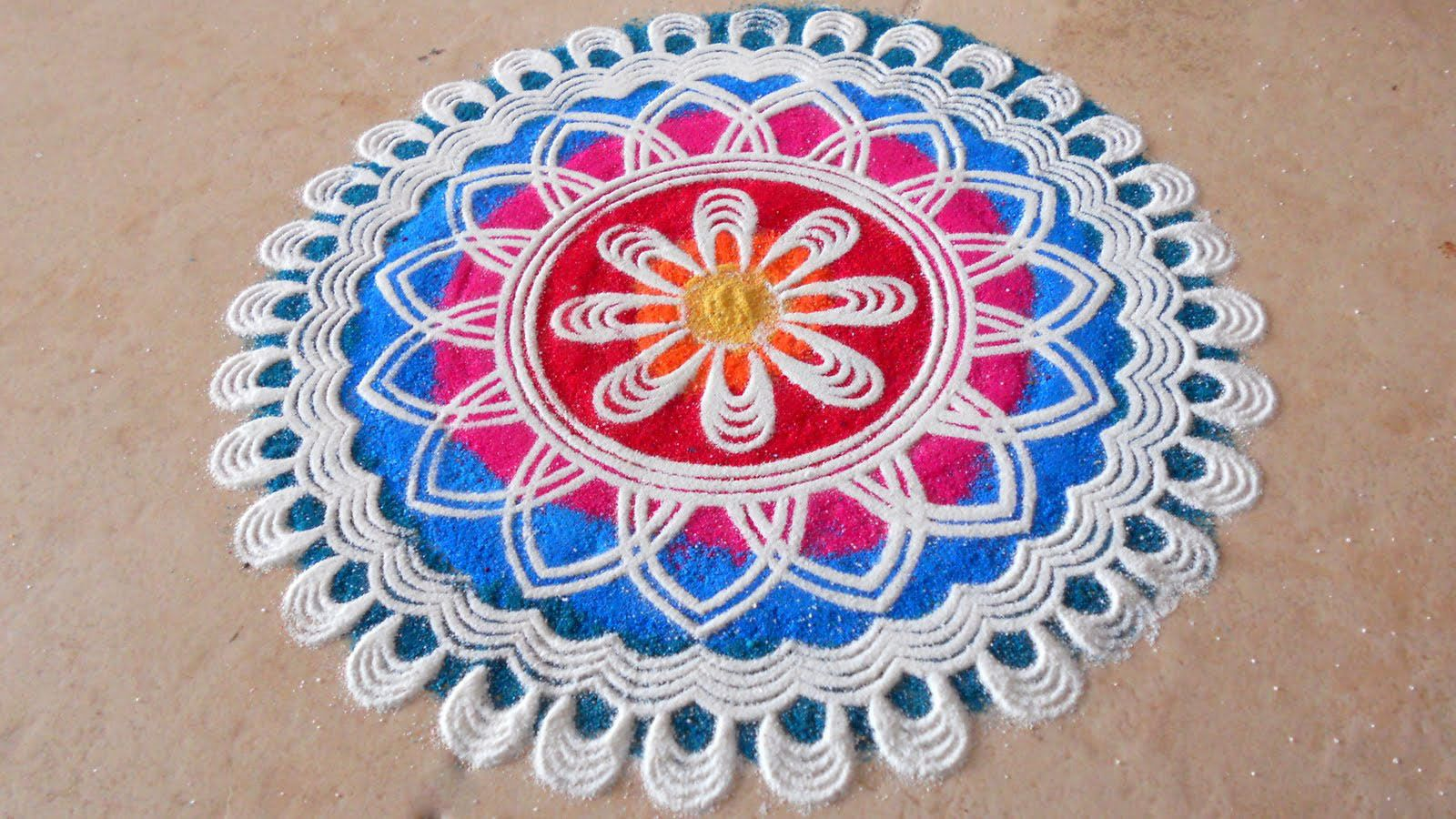 The purpose of rangoli is decoration, and it is thought to