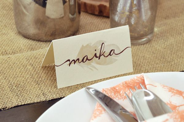 blush and gold place cards - Google Search   Wedding Ideas ...