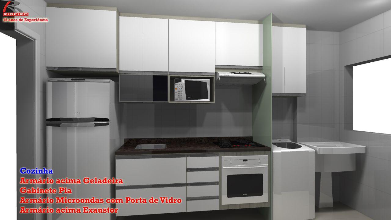 Resultado de imagem para armarios de cozinha planejados for Armarios para habitaciones pequenas