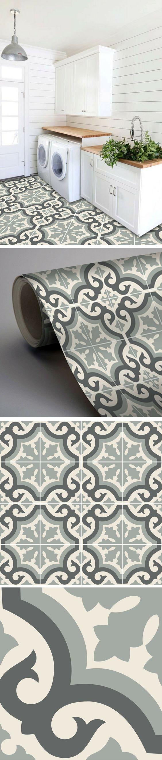 Carrelage Adhesif Imitation Carreaux De Ciment Pour Relooker La