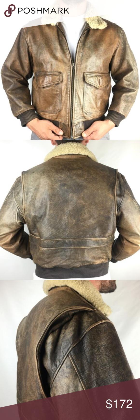 Vintage Eddie Bauer Leather Bomber Jacket Shearlin Leather Bomber Jacket Leather Bomber Vintage Jacket [ 1740 x 580 Pixel ]