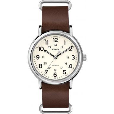 Timex Originals T2P495 Weekender Brown Leather Strap Watch
