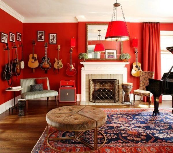 Decorating Bright Colored Room