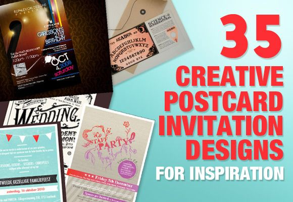 35 creative postcard invitation designs for inspiration - Postcard Design Ideas