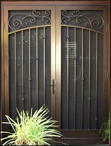 Charming Security Screen Doors For Double Entry