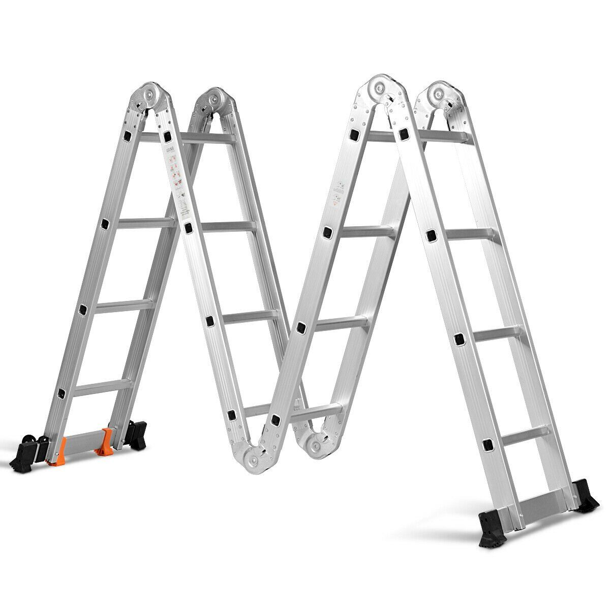 15 5 16 Step Multi Purpose Aluminum Folding Scaffold Ladder In 2020 Scaffold Ladder Ladder Folding Ladder