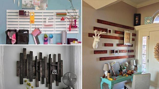 Decorazioni In Legno Per Pareti : Idee di decorazioni per pareti in pallet di legno eco design