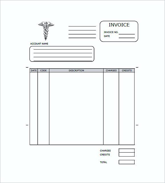 medical invoice form medical invoice template the format of